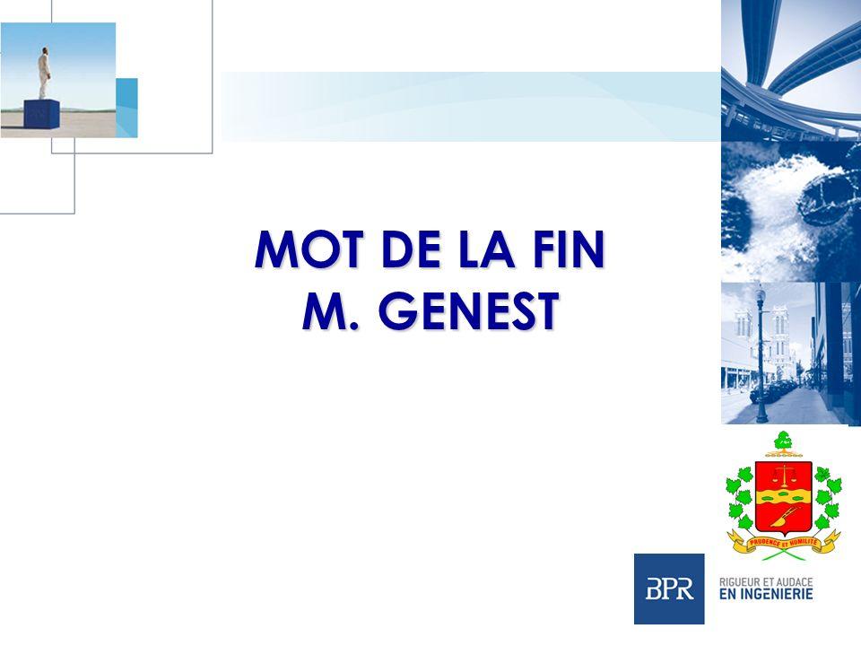 MOT DE LA FIN M. GENEST
