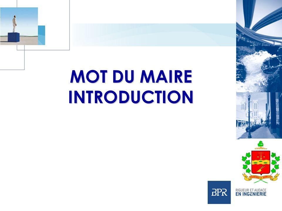MOT DU MAIRE INTRODUCTION