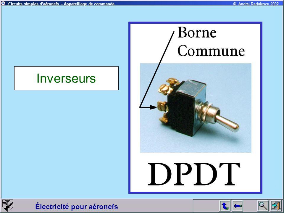 Électricité pour aéronefs © Andrei Radulescu 2002Circuits simples daéronefs – Appareillage de commande Inverseurs