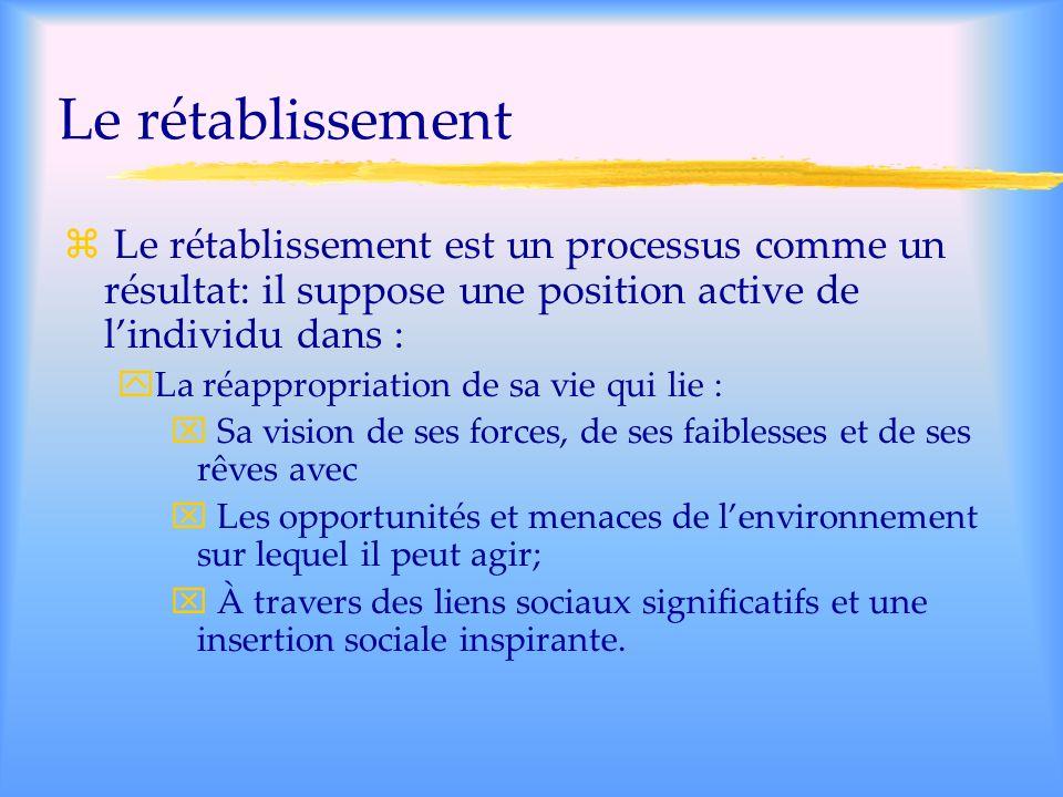Travailler sur soi Les participants mentionnent limportance : De la spiritualité (6/14); Dapprendre à saimer soi-même; Davoir des projets; Davoir une vie équilibrée.