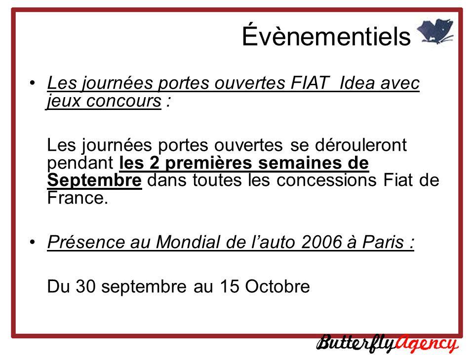 Les journées portes ouvertes FIAT Idea avec jeux concours : Les journées portes ouvertes se dérouleront pendant les 2 premières semaines de Septembre