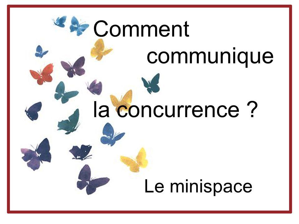 Comment communique la concurrence ? Le minispace
