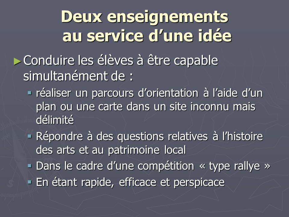 Deux enseignements au service dune idée Conduire les élèves à être capable simultanément de : Conduire les élèves à être capable simultanément de : ré
