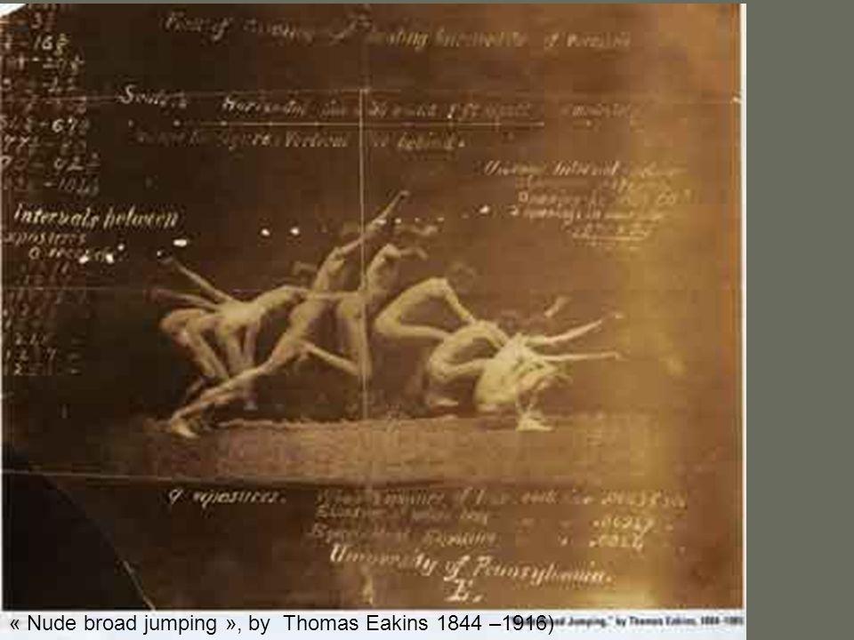 « Nude broad jumping », by Thomas Eakins 1844 –1916)