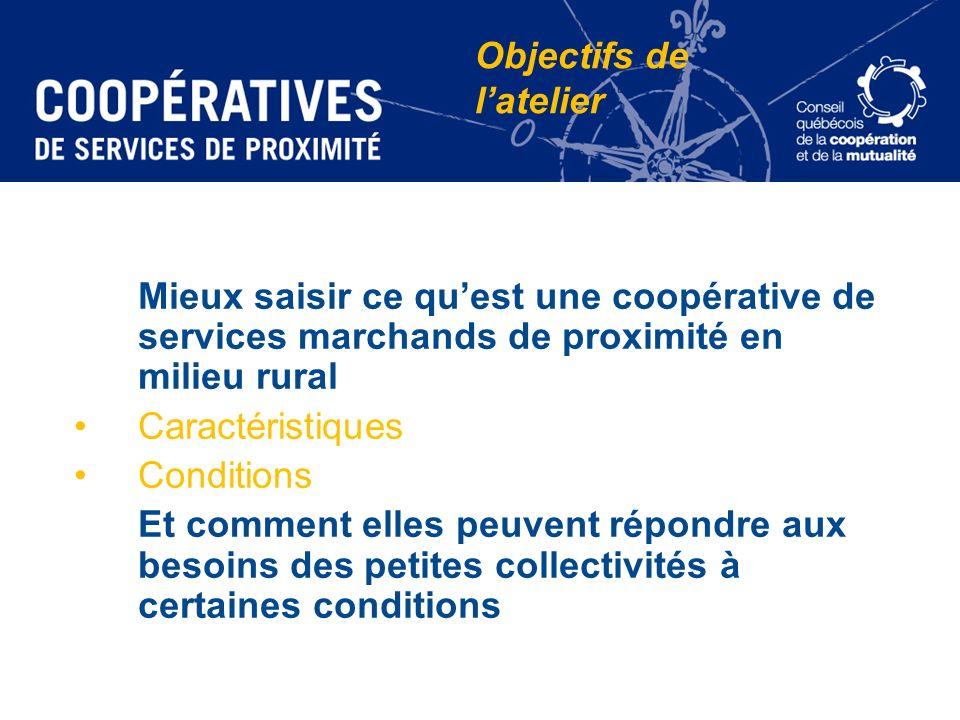 Mieux saisir ce quest une coopérative de services marchands de proximité en milieu rural Caractéristiques Conditions Et comment elles peuvent répondre