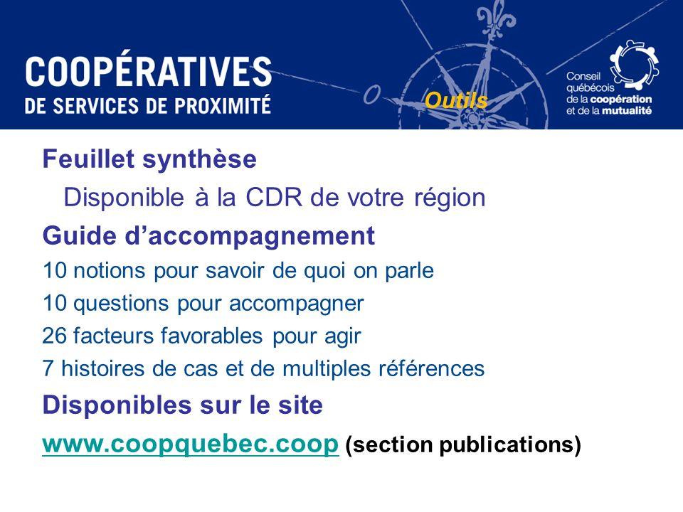 Feuillet synthèse Disponible à la CDR de votre région Guide daccompagnement 10 notions pour savoir de quoi on parle 10 questions pour accompagner 26 f