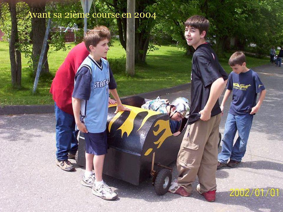 Avant sa 2ième course en 2004