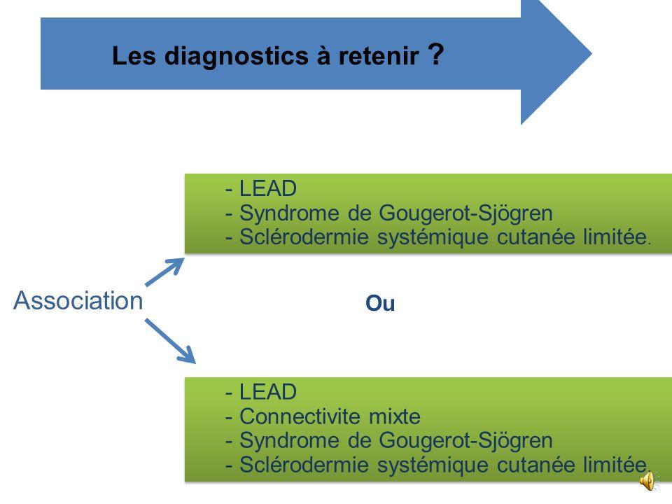 - Critères diagnostiques proposés pour la connectivite mixte appelée en France, selon M.F,Khan, syndrome de Sharp. - Le diagnostic est retenu si le cr