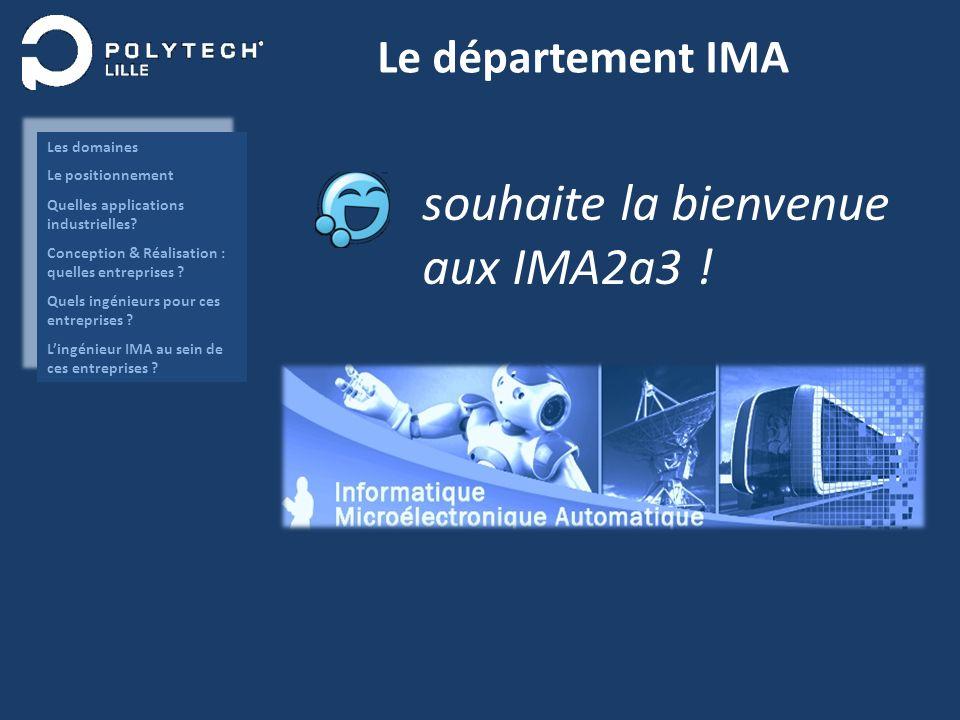 Le département IMA souhaite la bienvenue aux IMA2a3 !