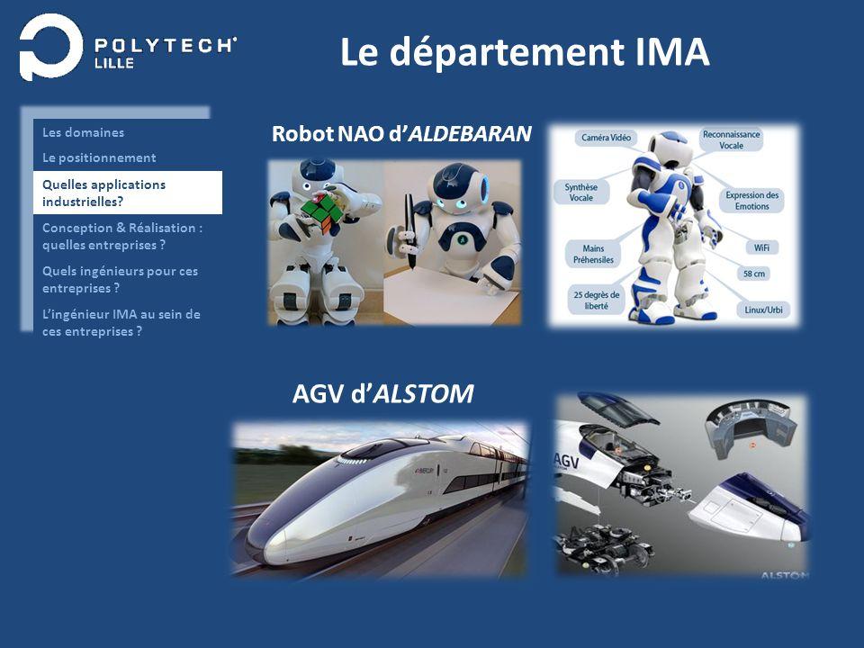 Le département IMA AGV dALSTOM Robot NAO dALDEBARAN