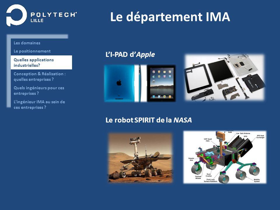 Le département IMA LI-PAD dApple Le robot SPIRIT de la NASA