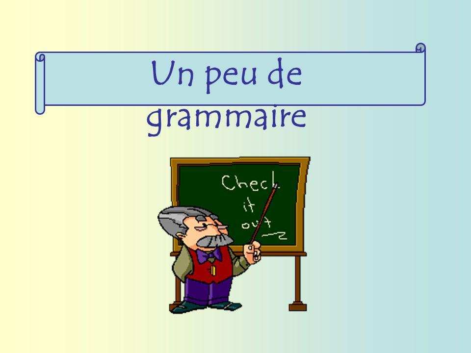 Un peu de grammaire