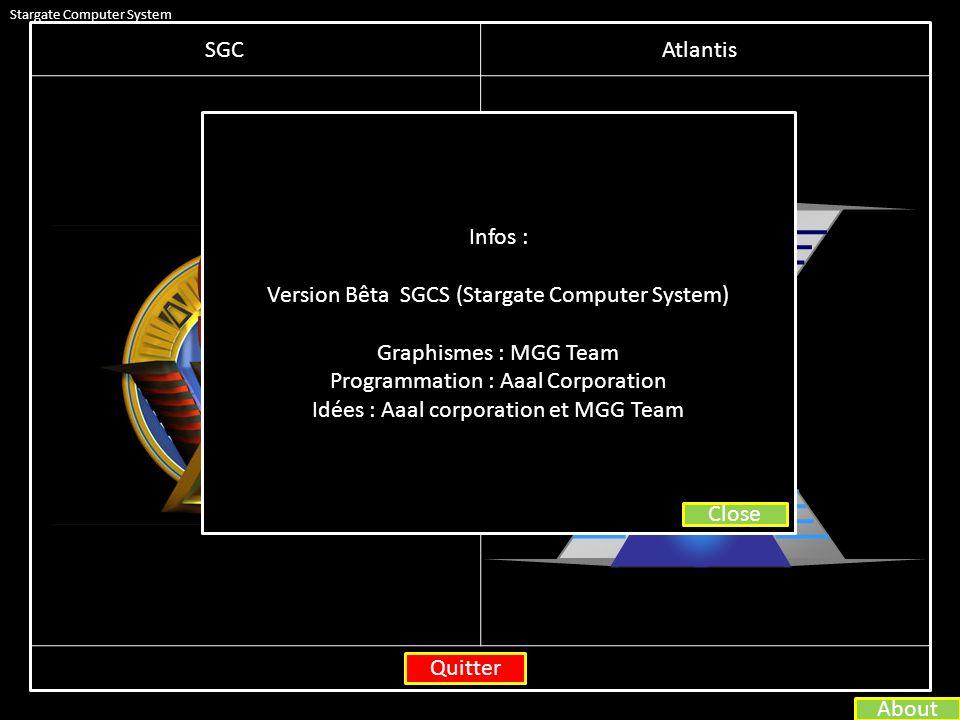 Stargate Computer System SGCAtlantis Voulez vous réellement quittez .