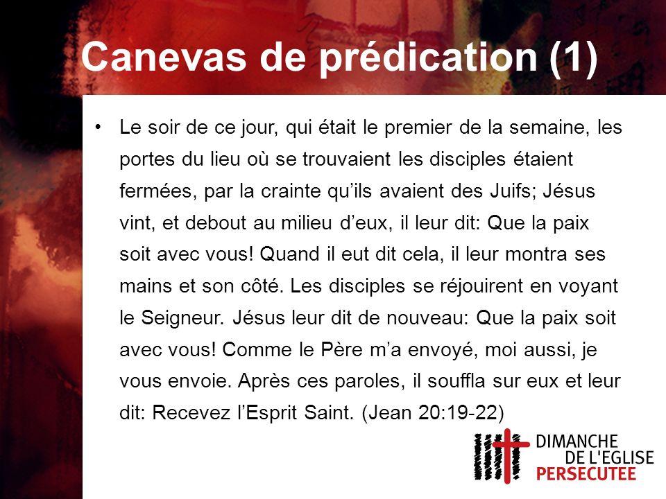 Canevas de prédication (2) Jésus nous renvoie à notre mission première.