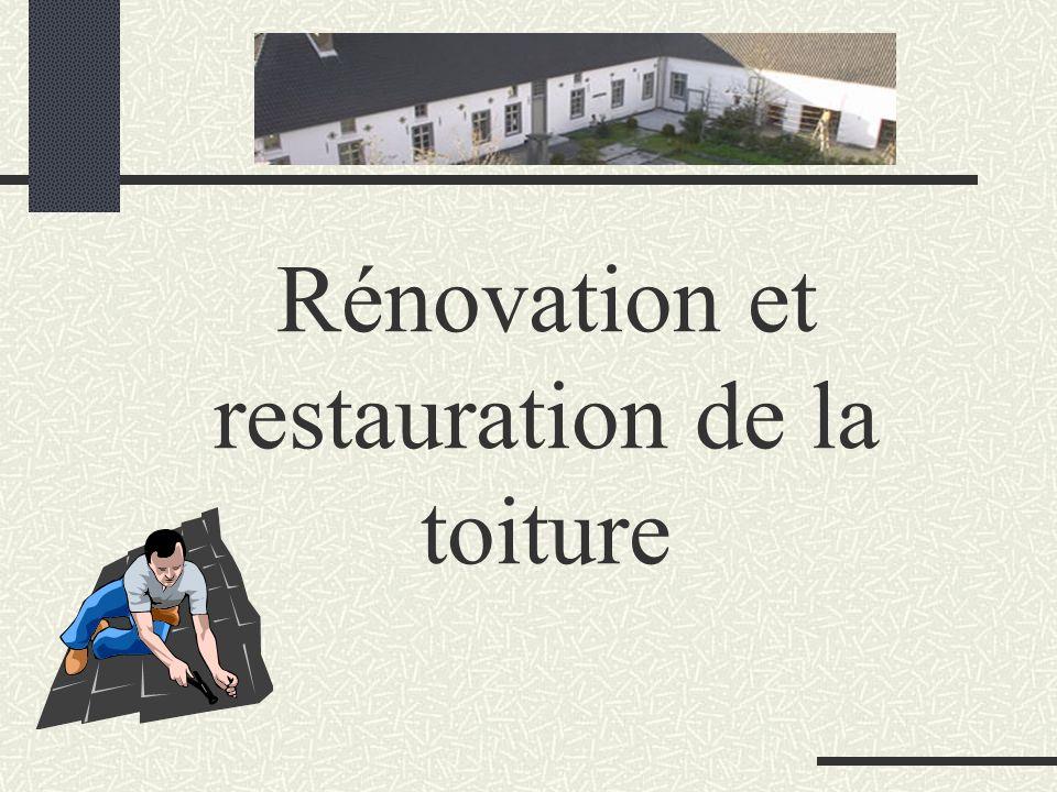 Rénovation et restauration de la toiture