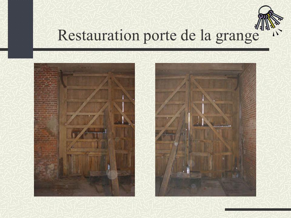 Restauration du porche et du portillon