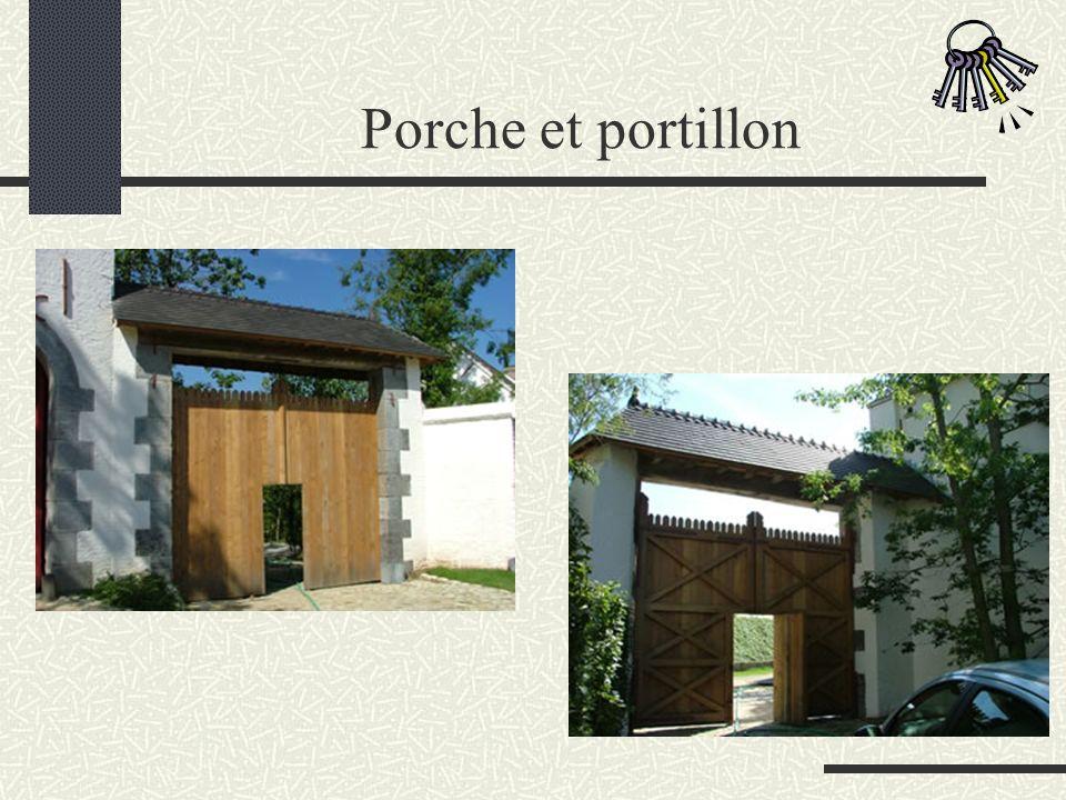 Porche et portillon