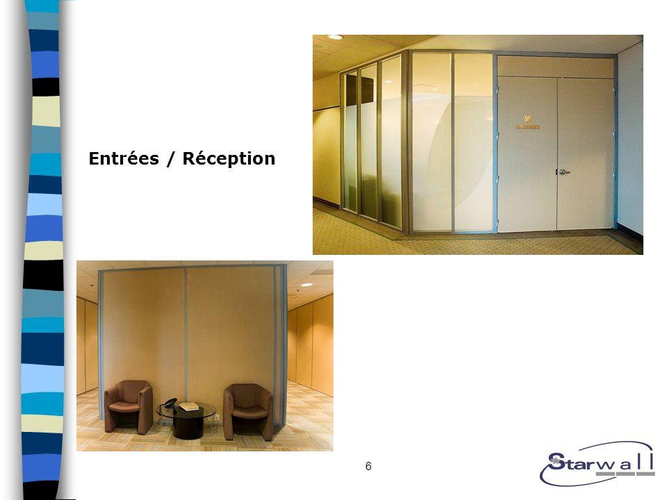 6 Entrées / Réception