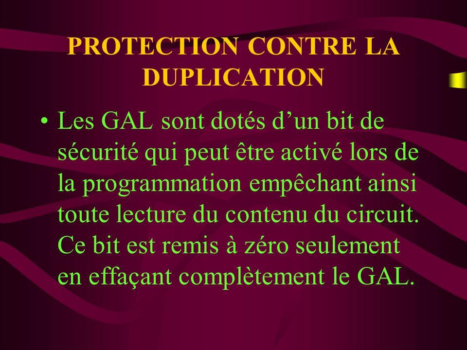 PROTECTION CONTRE LA DUPLICATION Il est aussi constitué dun ensemble de huit octets, appelé signature électronique, pouvant contenir des informations diverses sur le produit.