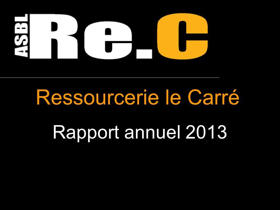 Ressourcerie le Carré Rapport annuel 2013