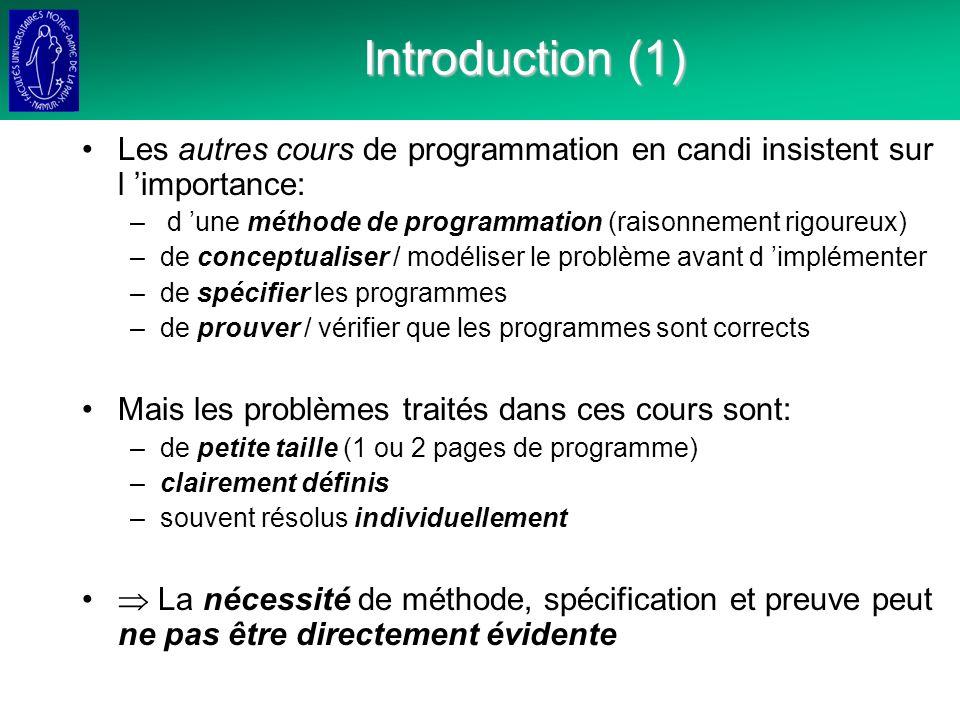 Techniques de Structuration de Problèmes Décomposition des fonctions Modularité