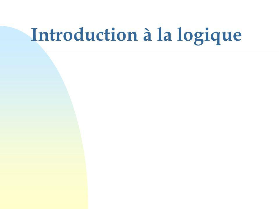 Introduction à la logique