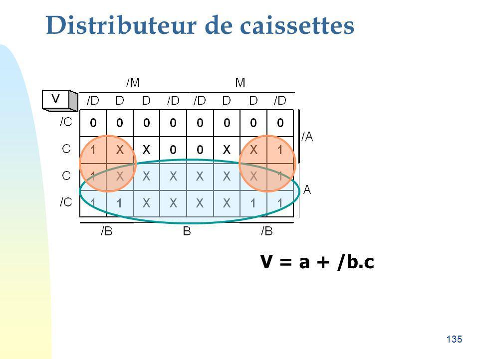 135 Distributeur de caissettes V = a + /b.c