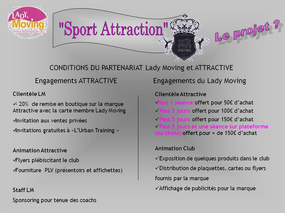 Clientèle LM - 20% de remise en boutique sur la marque Attractive avec la carte membre Lady Moving Invitation aux ventes privées Invitations gratuites