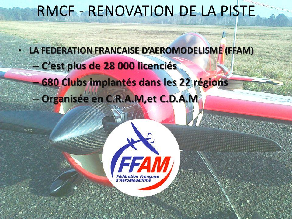 RMCF - RENOVATION DE LA PISTE LA FEDERATION FRANCAISE DAEROMODELISME (FFAM) LA FEDERATION FRANCAISE DAEROMODELISME (FFAM) – Cest plus de 28 000 licenc