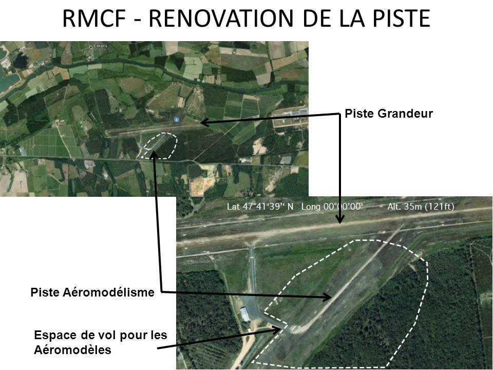 RMCF - RENOVATION DE LA PISTE Piste Grandeur Piste Aéromodélisme Espace de vol pour les Aéromodèles