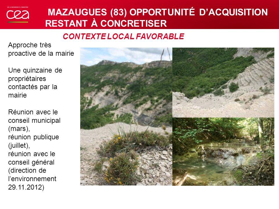 CONTEXTE LOCAL FAVORABLE Approche très proactive de la mairie Une quinzaine de propriétaires contactés par la mairie Réunion avec le conseil municipal