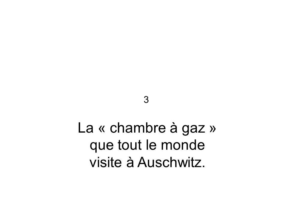 La « chambre à gaz » que tout le monde visite à Auschwitz. 3
