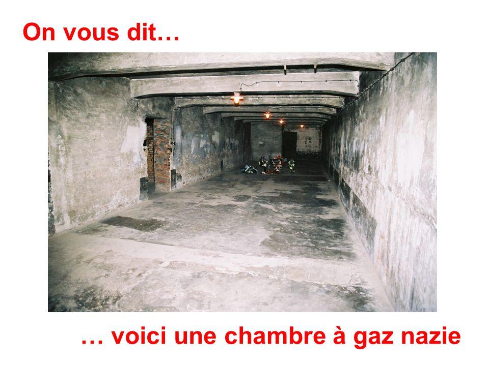 On vous dit… … voici une chambre à gaz nazie