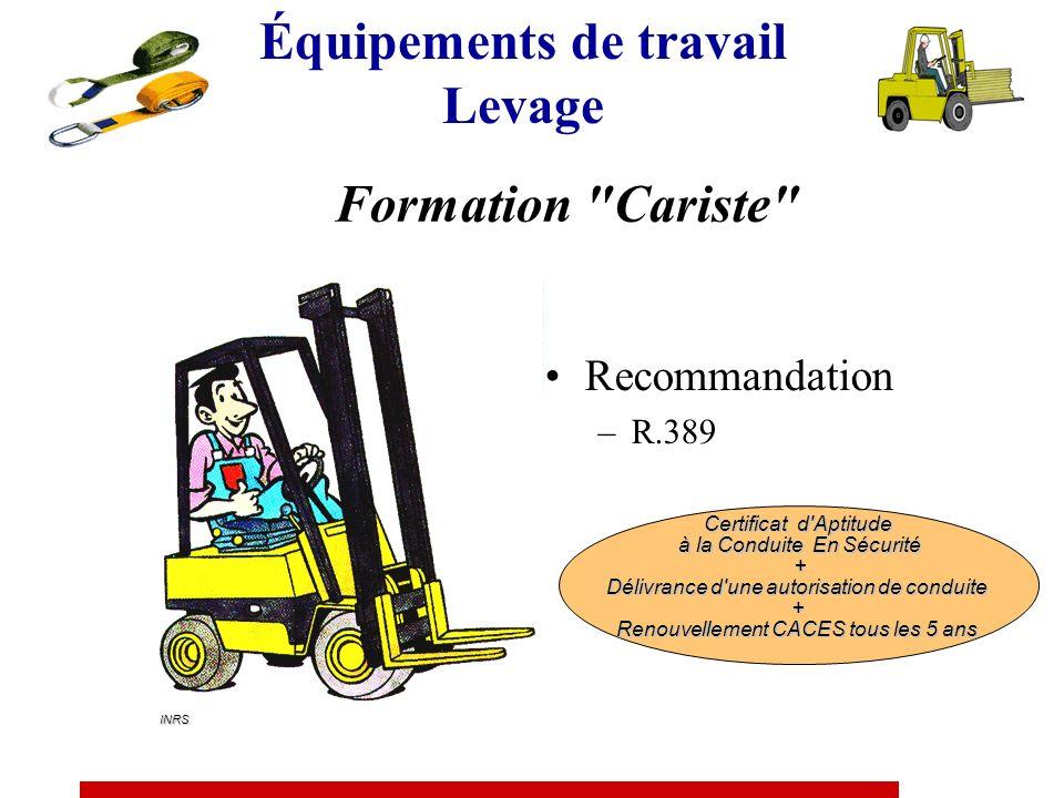 Autorisation de conduite Délivrée au travailleur par le chef d établissement sur la base d une évaluation tenant compte des trois éléments suivants :
