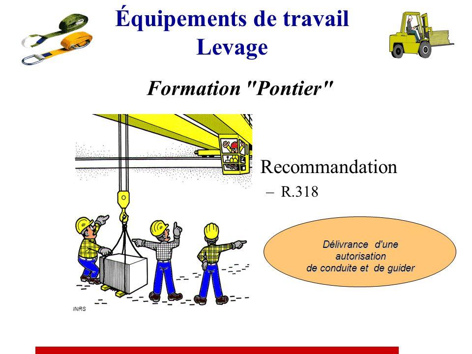 Recommandation R.372 Catégorie 1 Tracteurs et petits engins de chantier mobiles Catégorie 2 Pelles, engins de fondations spéciales, de forage, de trav