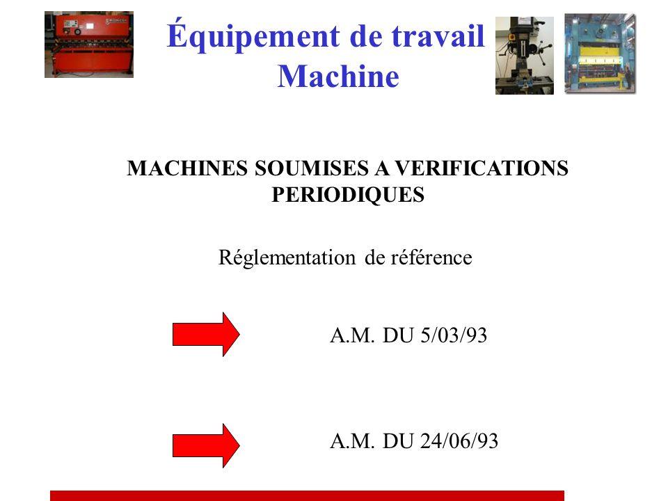 Certificat de conformité R 4313-66 Arrêté du 18/12/92 MACHINE DOCCASION Équipement de travail Machine