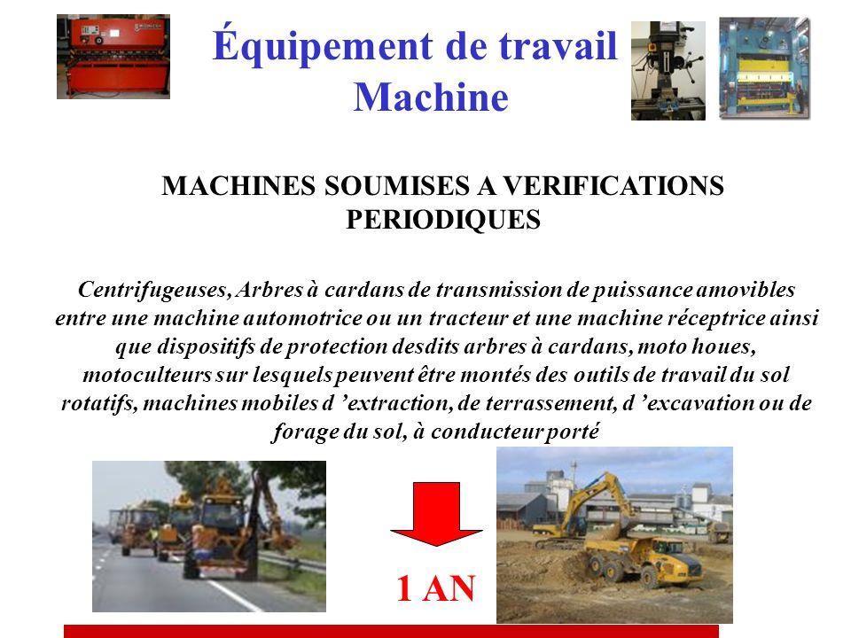 MACHINES SOUMISES A VERIFICATIONS PERIODIQUES Presses pour le travail à froid des métaux, presses à vis, presses à mouler les métaux, machines à moule