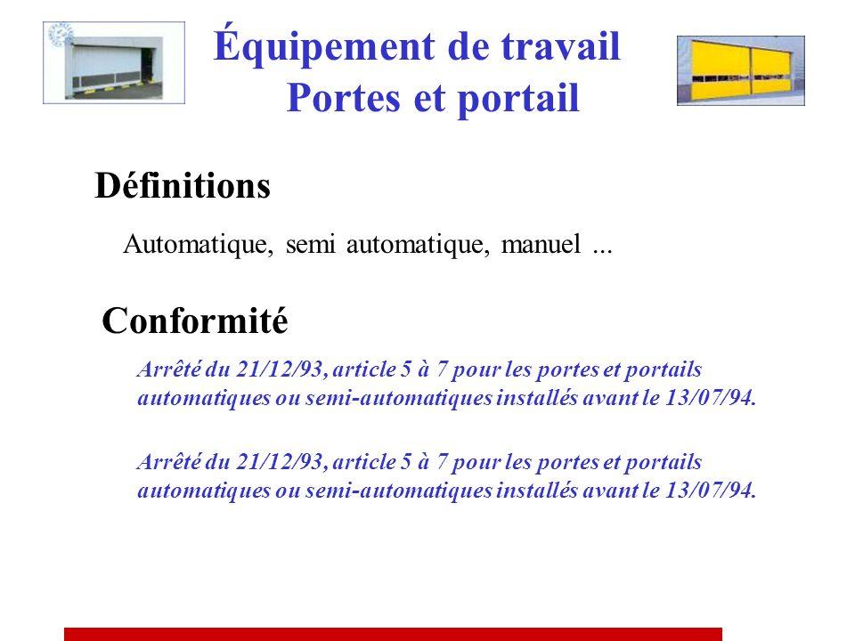 Inspection périodique par personne qualifiée et nommément désignée PAS DINDICATION DE FREQUENCE MACHINES A MEULER (A.M du 28/07/61) Équipement de trav