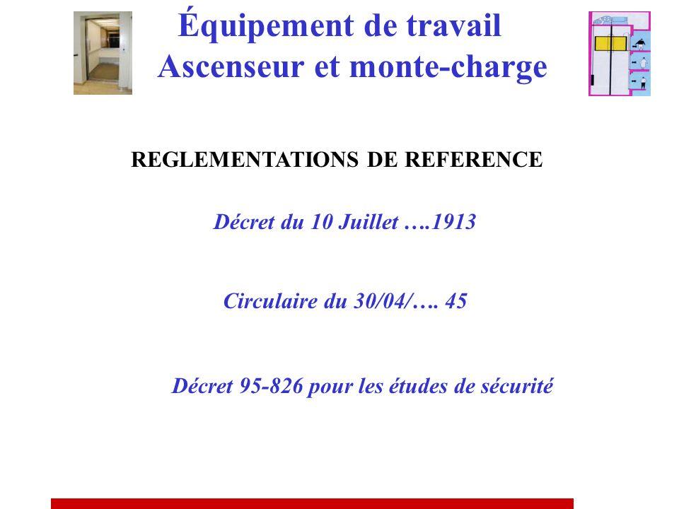 EQUIPEMENT MANUEL OU MOTORISE Périodicité « régulière », vérificateur non spécifié EQUIPEMENT AUTOMATIQUE OU SEMI- AUTOMATIQUE Périodicité semestriell