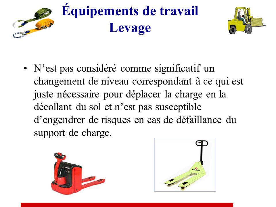 Équipements de travail Levage Treuils, palans, vérins et leurs supports, Tire-fort de levage, pull-lifts, crics de levage, monorails, portiques, poutr