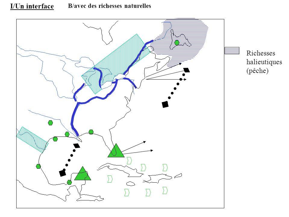 Richesses halieutiques (pêche) I/Un interface B/avec des richesses naturelles