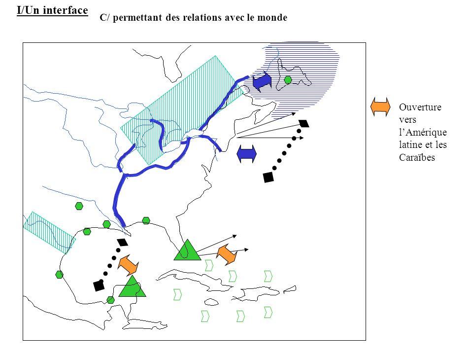 Ouverture vers lAmérique latine et les Caraïbes I/Un interface C/ permettant des relations avec le monde