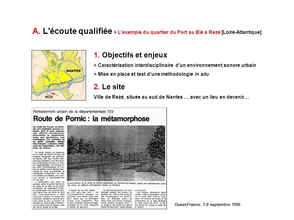 A. L'écoute qualifiée > L'exemple du quartier du Port au Blé à Rezé [Loire-Atlantique] 2. Le site Ville de Rezé, située au sud de Nantes … avec un lie