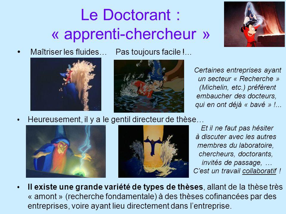 Le Doctorant : « apprenti-chercheur » Maîtriser les fluides… Pas toujours facile !...