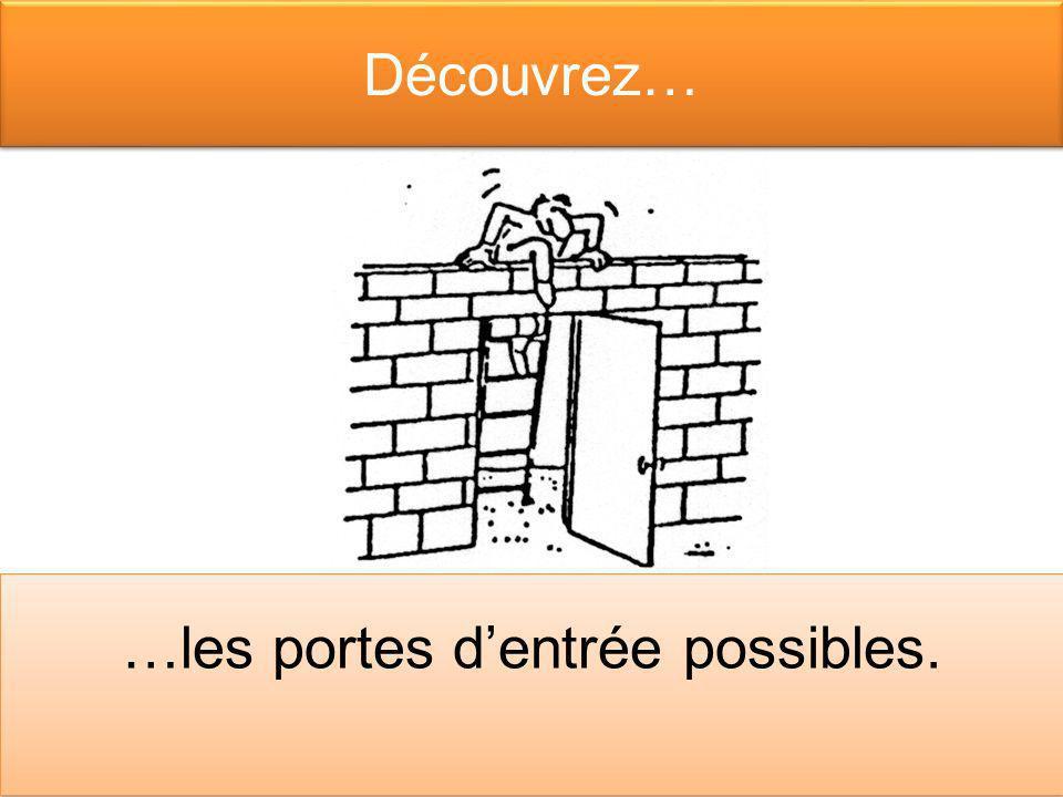 Découvrez… …les portes dentrée possibles.