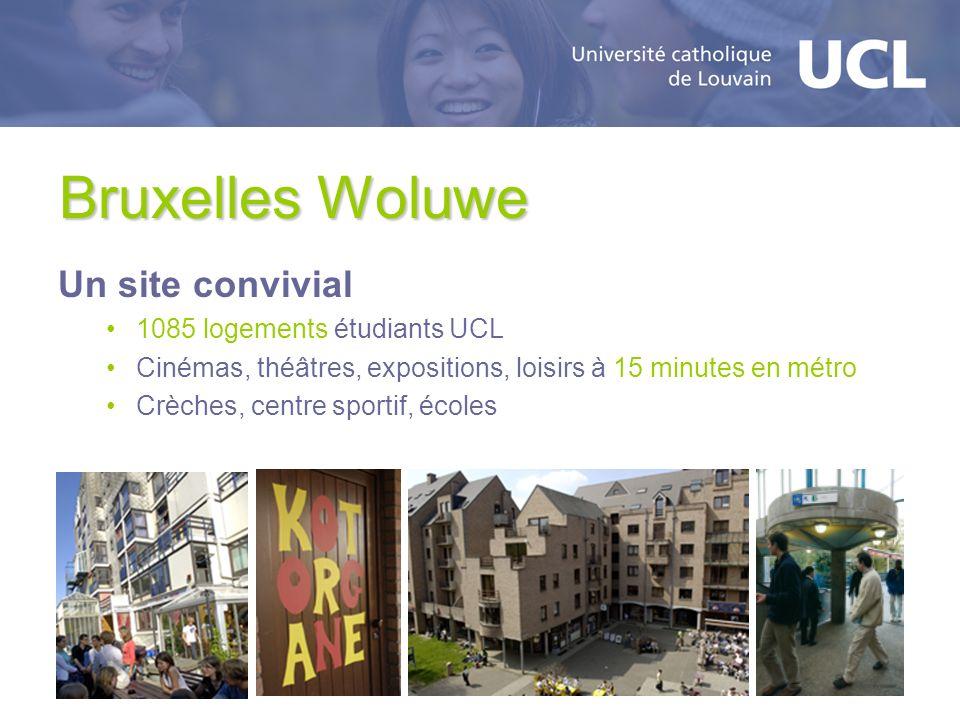 Bruxelles Woluwe Un site convivial 1085 logements étudiants UCL Cinémas, théâtres, expositions, loisirs à 15 minutes en métro Crèches, centre sportif,