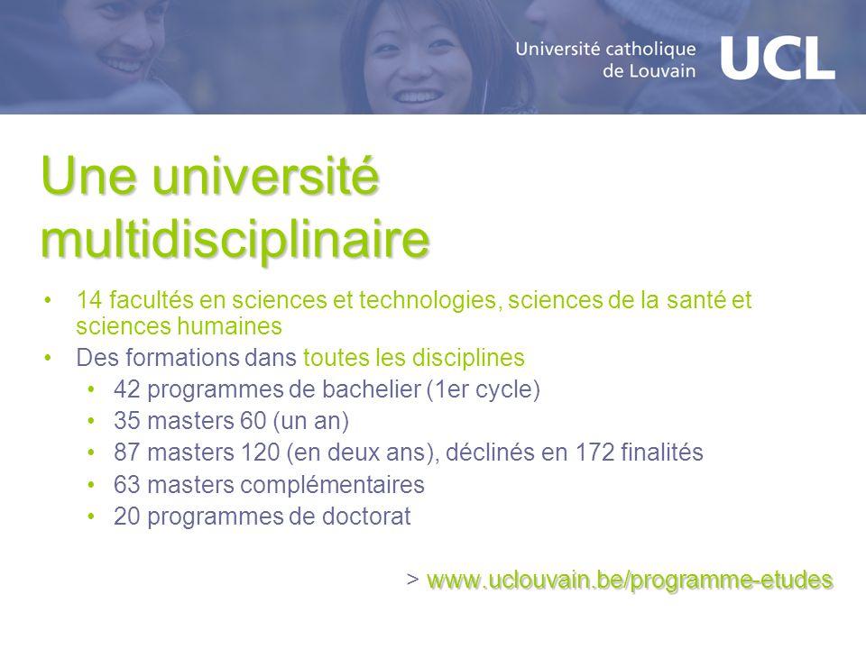 Une université multidisciplinaire 14 facultés en sciences et technologies, sciences de la santé et sciences humaines Des formations dans toutes les di