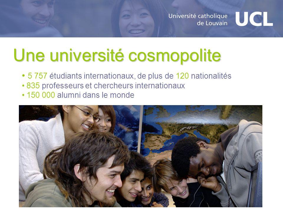 Une université cosmopolite 5 757 étudiants internationaux, de plus de 120 nationalités 835 professeurs et chercheurs internationaux 150 000 alumni dan
