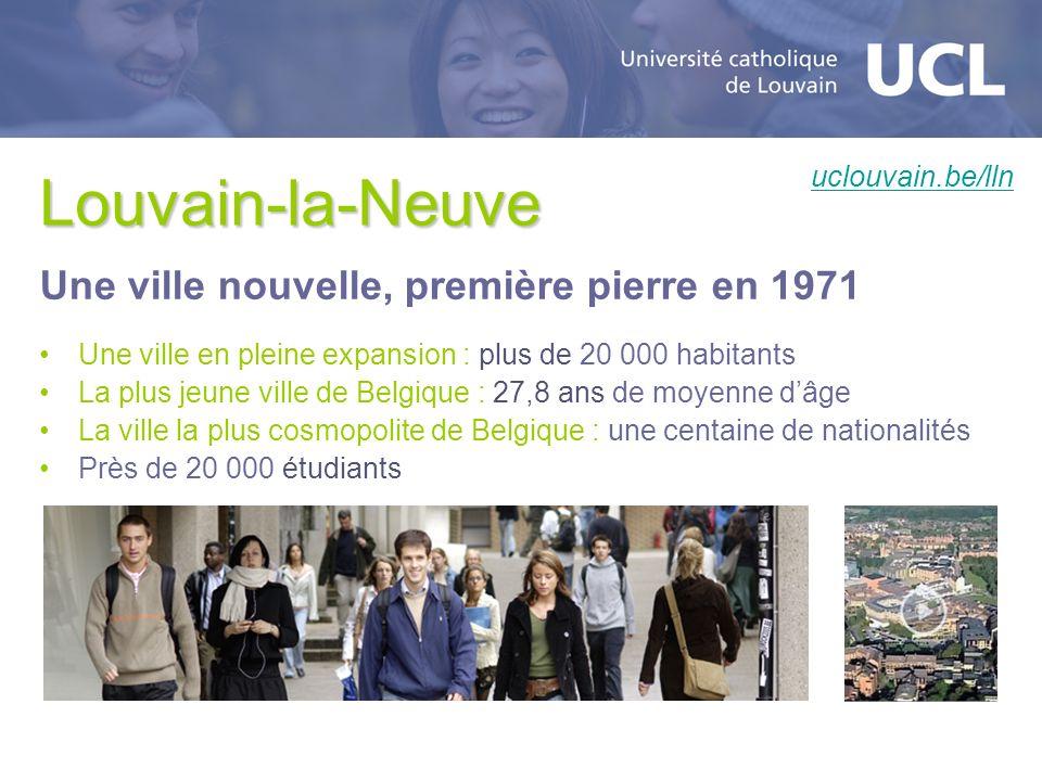 Louvain-la-Neuve Une ville nouvelle, première pierre en 1971 Une ville en pleine expansion : plus de 20 000 habitants La plus jeune ville de Belgique