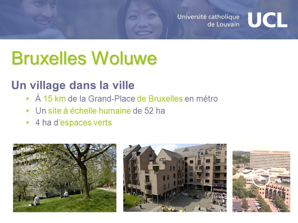 Bruxelles Woluwe Un village dans la ville À 15 km de la Grand-Place de Bruxelles en métro Un site à échelle humaine de 52 ha 4 ha despaces verts